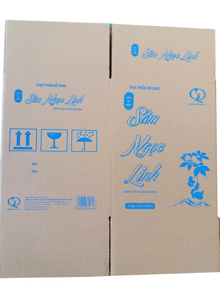 Thùng carton 5 lớp in flexo đựng sâm Ngọc Linh